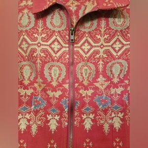 CAbi Jackets & Coats - CAbi Brocade Tapestry ZipVest L